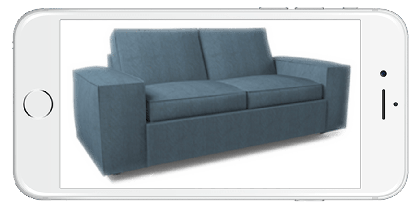 3D Augmented Reality Couch on iPhone - Horizontal